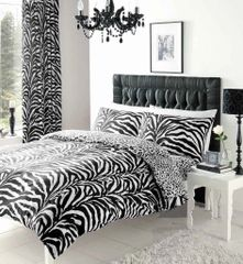 Zebra Skin cotton blend duvet cover