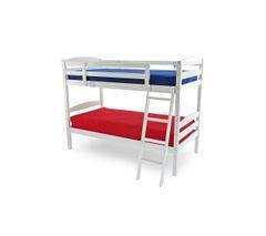Rio white single wooden bunk bed frame