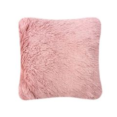 Fluffy fur pink cushion cover
