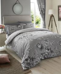 Annie grey cotton blend duvet cover