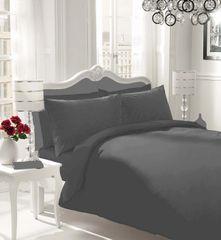 Plain black flannelette duvet cover