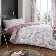 Florance Paisley pink cotton blend duvet cover