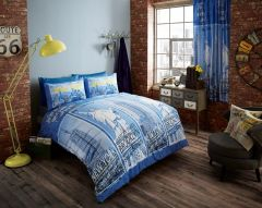 Inspire blue duvet cover
