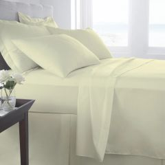 Cream Egyptian Cotton 400 TC flat sheet