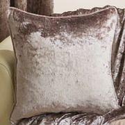 Velva crushed velvet bronze cushion cover