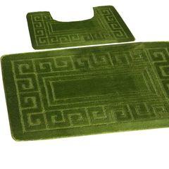 Fern Greek style 2 piece bath mat set