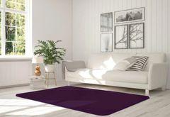 Velvet aubergine rug