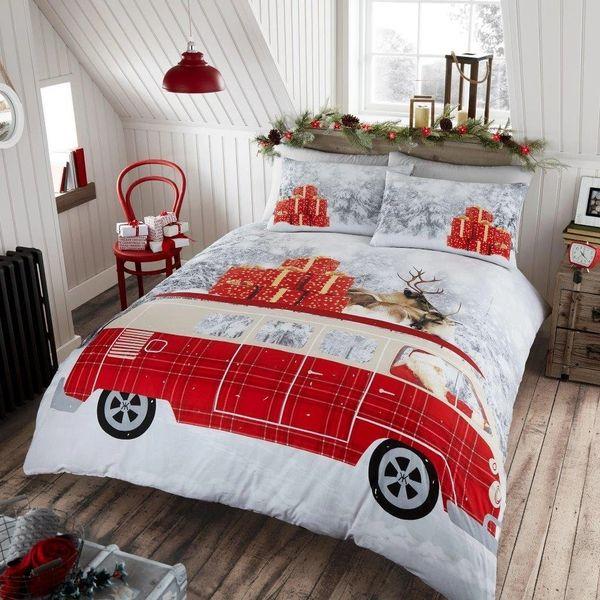 Santa's Campervan duvet cover