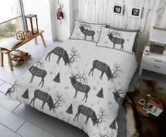 Winterberry Stag grey duvet cover