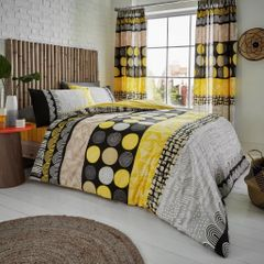Anouk mustard cotton blend duvet cover