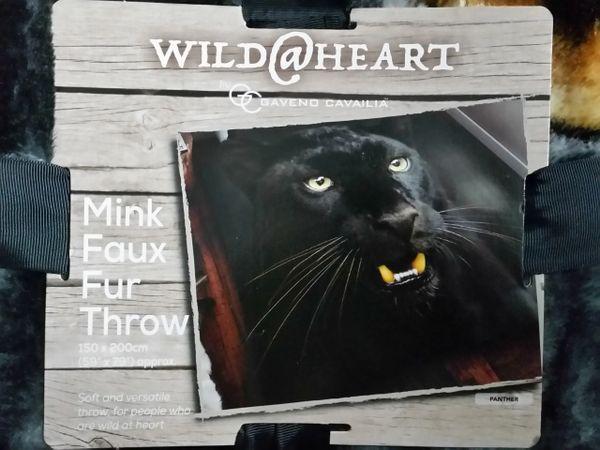 3D print Panther mink faux fur throw / blanket