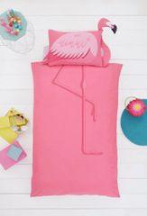 Flamingo shaped duvet cover