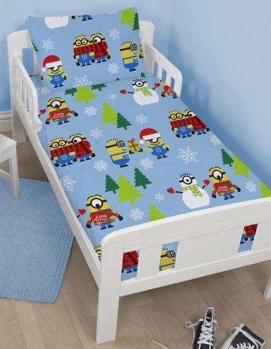 Minions festive junior cot bed duvet cover