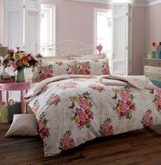 Ava cream cotton blend duvet cover
