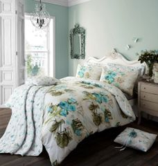 Vintage Dream teal duvet cover