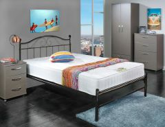 Susanna black metal bed frame