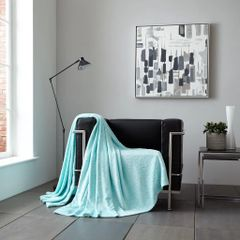 Metallic Stars aqua/silver throw