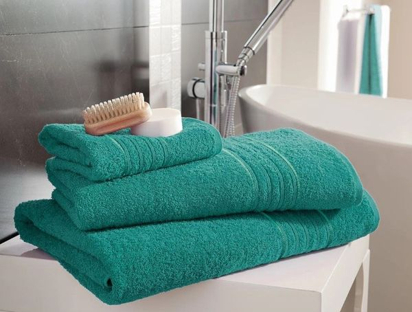 Hampton aqua Egyptian Cotton towels