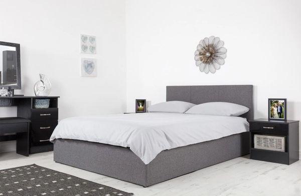 Boston grey fabric ottoman storage bed