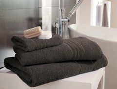 Hampton charcoal Egyptian Cotton towels