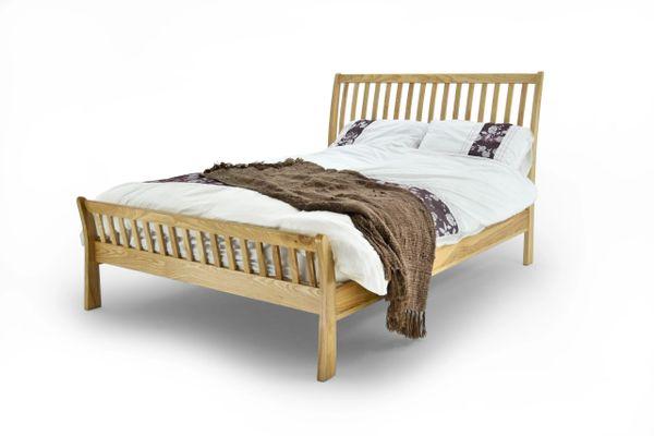 Noah solid oak bed frame