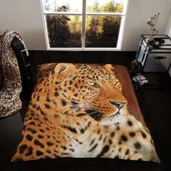 3D print Leopard mink faux fur throw / blanket