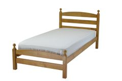 Caspian single antique pine wooden bed frame