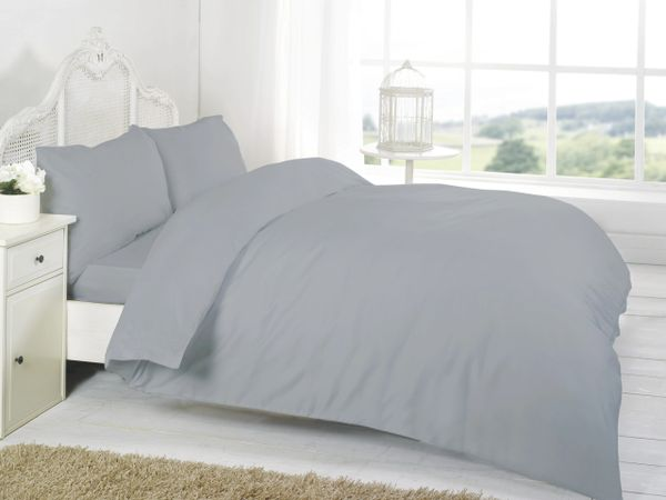 Grey Egyptian Cotton 200 TC flat sheet