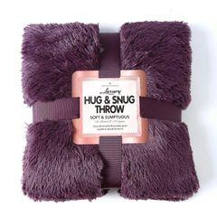 Fluffy Fur purple throw