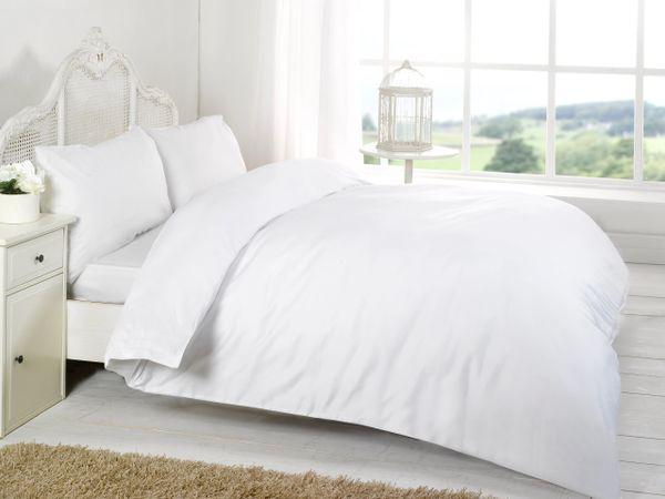 White Egyptian Cotton 200 TC duvet cover