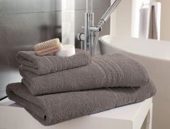 Hampton silver grey Egyptian Cotton towels