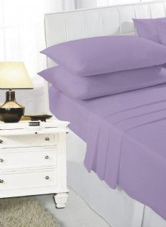 Lilac fitted sheet