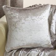 Velva crushed velvet natural cushion cover