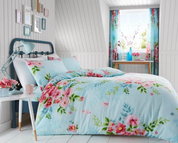 Alice pale blue duvet cover