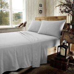 Grey flannelette flat sheet