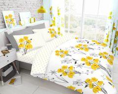 Poppy yellow duvet cover