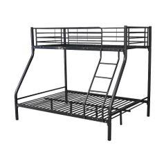 Montreal black triple metal bunk beds