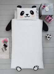 Panda shaped duvet cover