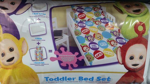 Teletubbies 4 piece junior cot bed bundle