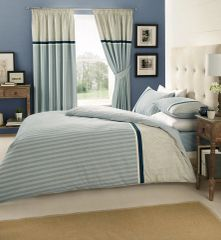 Valeria blue cotton blend duvet cover