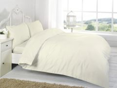 Cream Egyptian Cotton 200 TC flat sheet