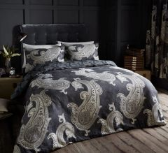 Paisley Crescent grey cotton blend duvet cover