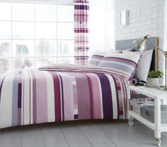 Chester Stripe purple duvet cover