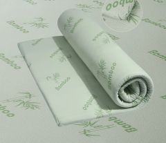Bamboo memory foam orthopaedic rolled mattress topper