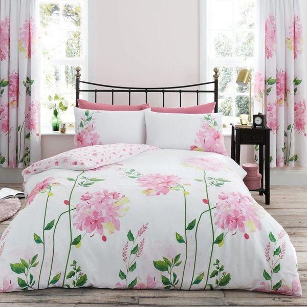Camilla pink cotton blend duvet cover