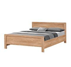 Holland oak effect wooden bed