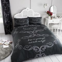 Goodnight charcoal cotton blend duvet cover