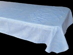 Utensils blue & white rectangle table cloth & napkin set