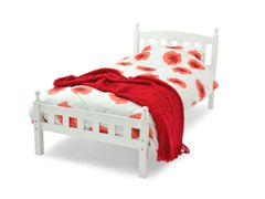 Flora white wooden bed frame