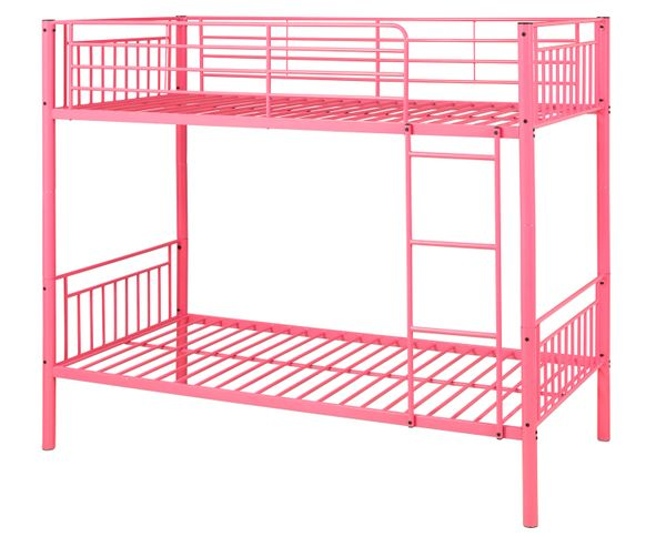 Montreal Single Metal Bunk Beds Pink Discount Home Textiles